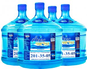 Доставка воды Аква чистая 4 бутыли по 12л.