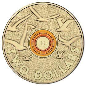 Австралия 2 доллара 2015 День Памяти цветная оранжевая UNC