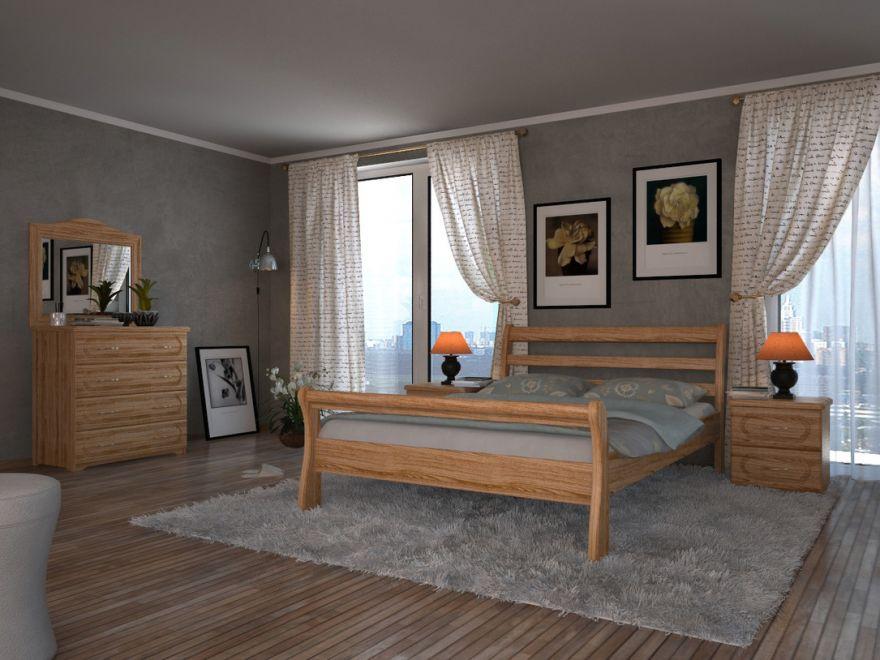 Кровать Милан (массив бука)   DreamLine