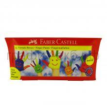 Краски для рисования руками 6цв.45мл Faber-Castell FC160422