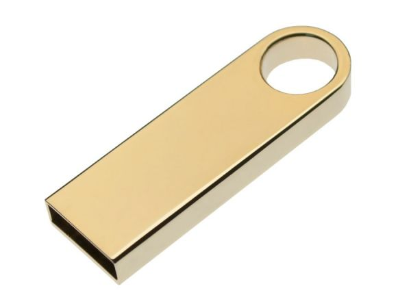 8GB USB-флеш корпус для накопитель Apexto U904A металлический брелок золотой матовый