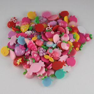 Кабошон, пластик, МИКС, Фрукты, овощи, конфетки, размер: 16-22мм (1уп=50шт), Арт. КБП0275