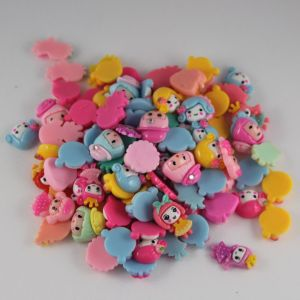 Кабошон, пластик, МИКС, Девочки, размер: 16-22мм (1уп=50шт), Арт. КБП0276