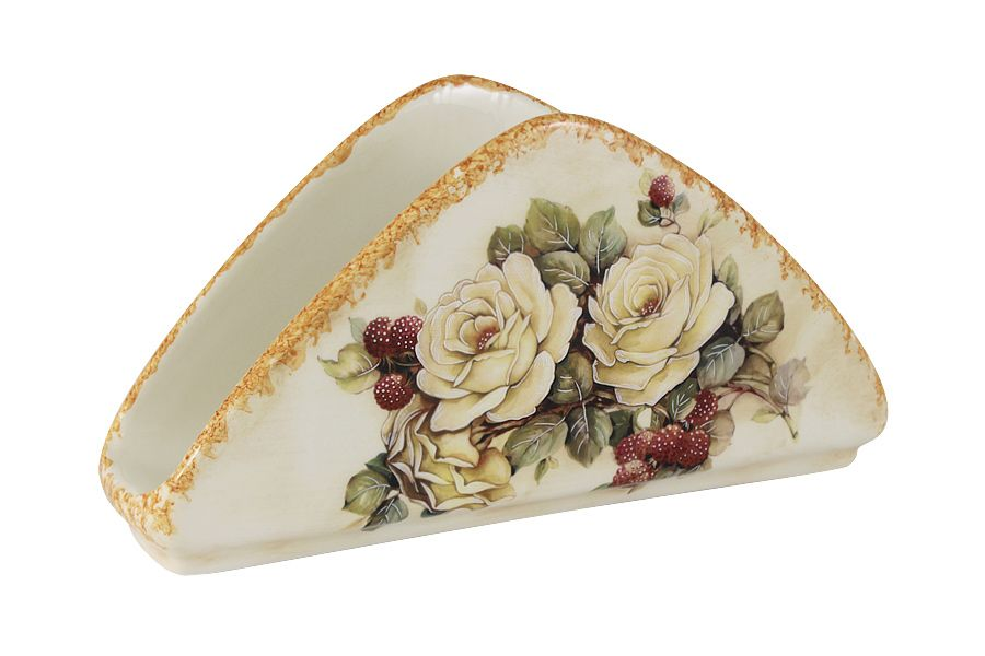 """Салфетница """"Роза и малина"""", 20.5х11 см"""