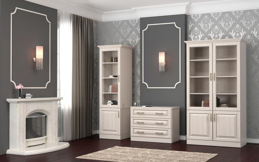 Шкаф библиотека Эдем 1-но створчатая (массив ясеня) | DreamLine