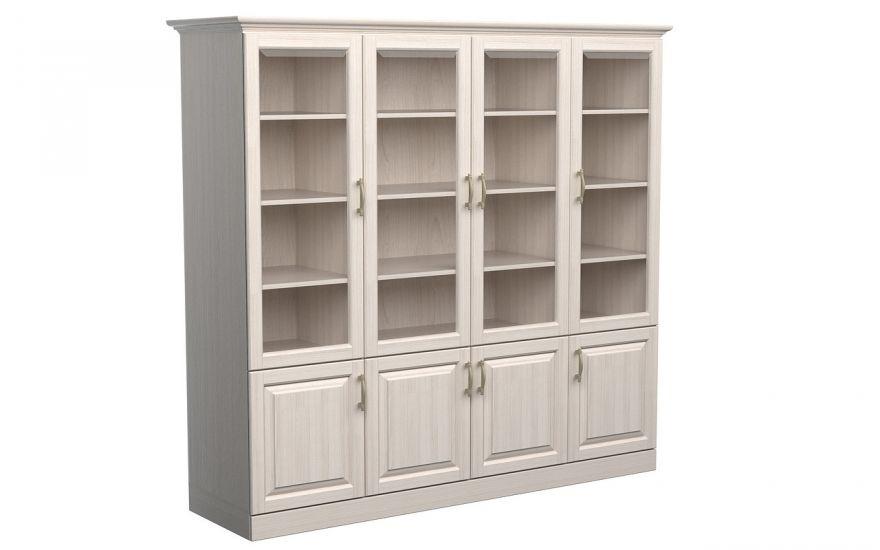 Шкаф библиотека Эдем 4-х створчатая (массив ясеня) | DreamLine