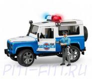 Bruder. Брудер Внедорожник Land Rover Defender Station Wagon Полиция с фигуркой
