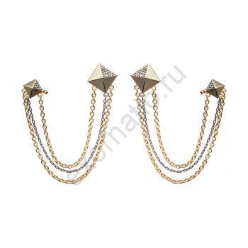 Серьги Evita Peroni 5725986. Коллекция Harajuku Gold