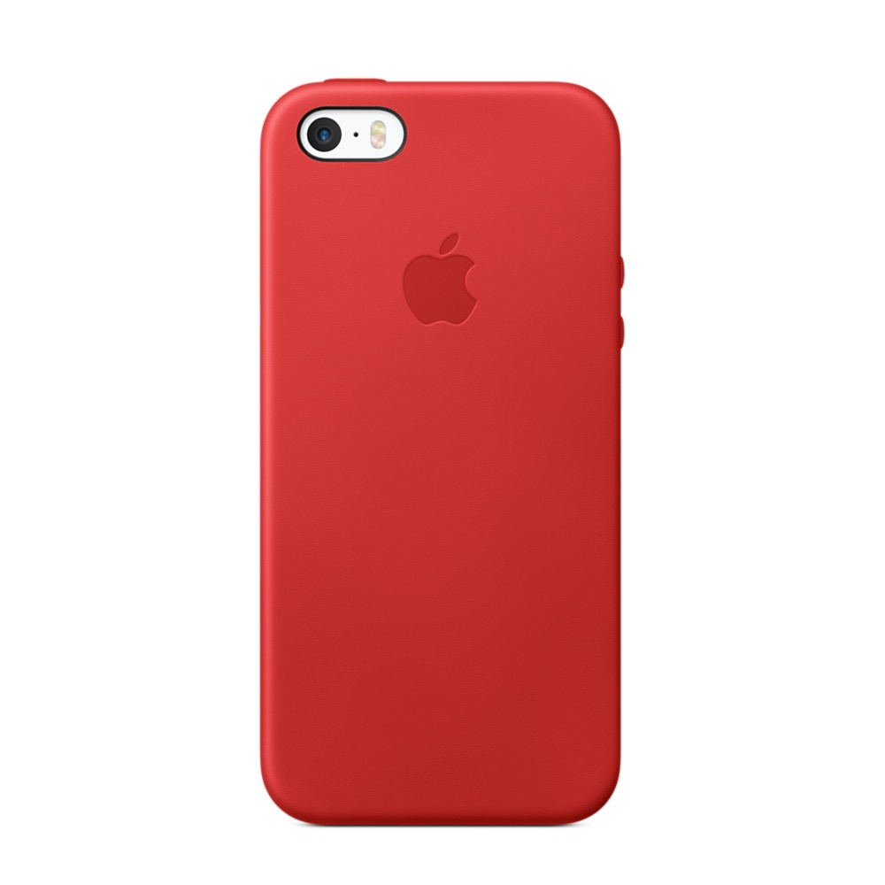 Apple leather case iphone 5/5s (красный)