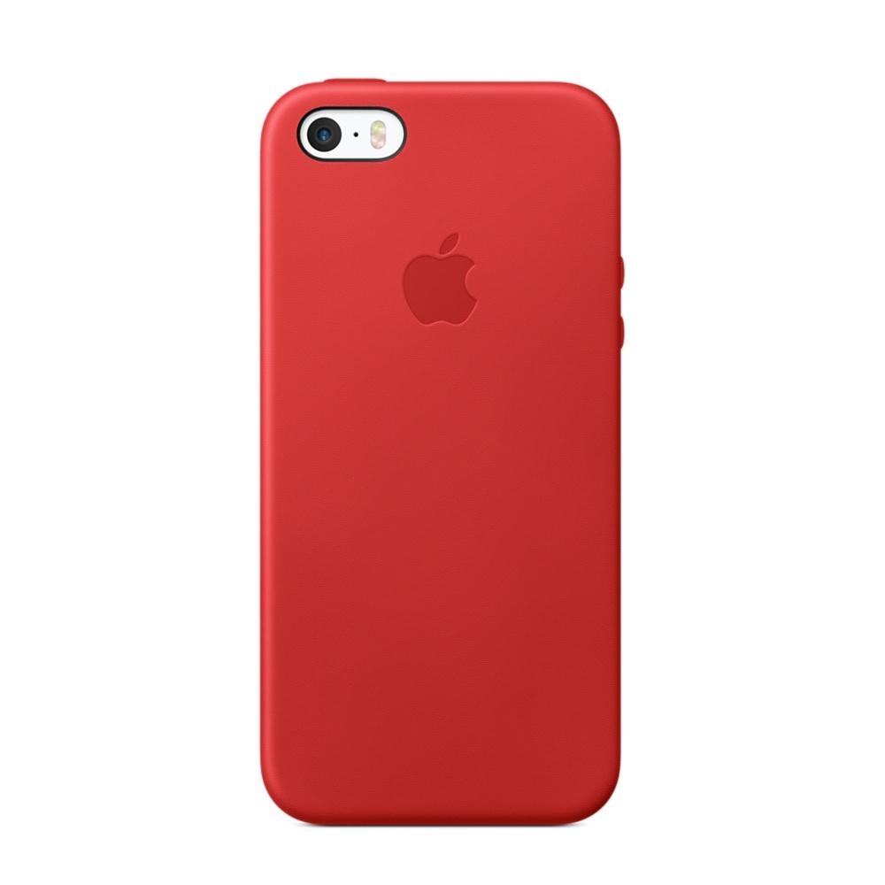 Apple leather case iphone 5/5s (красный)