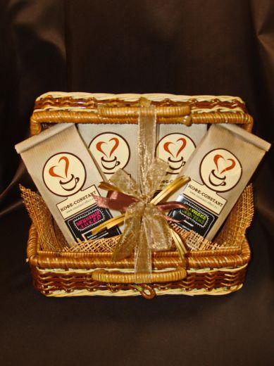 Плетеный сундучок с кофе - подарочный набор