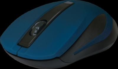 Беспроводная оптическая мышь MM-605 синий,3 кнопки,1200dpi