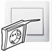 Силовая розетка 2К+З с защ. шт. и крышкой White/Белый (арт.771064)