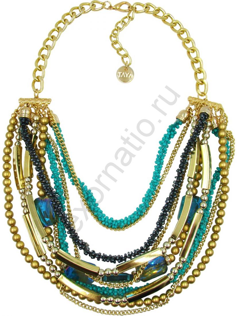 Колье Taya LX. T-B-10199-NECK-GL.GREEN