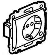 Розетка 2К+3 с лицевой  панелью и рамкой  Aluminium/Алюминий (арт.771339)