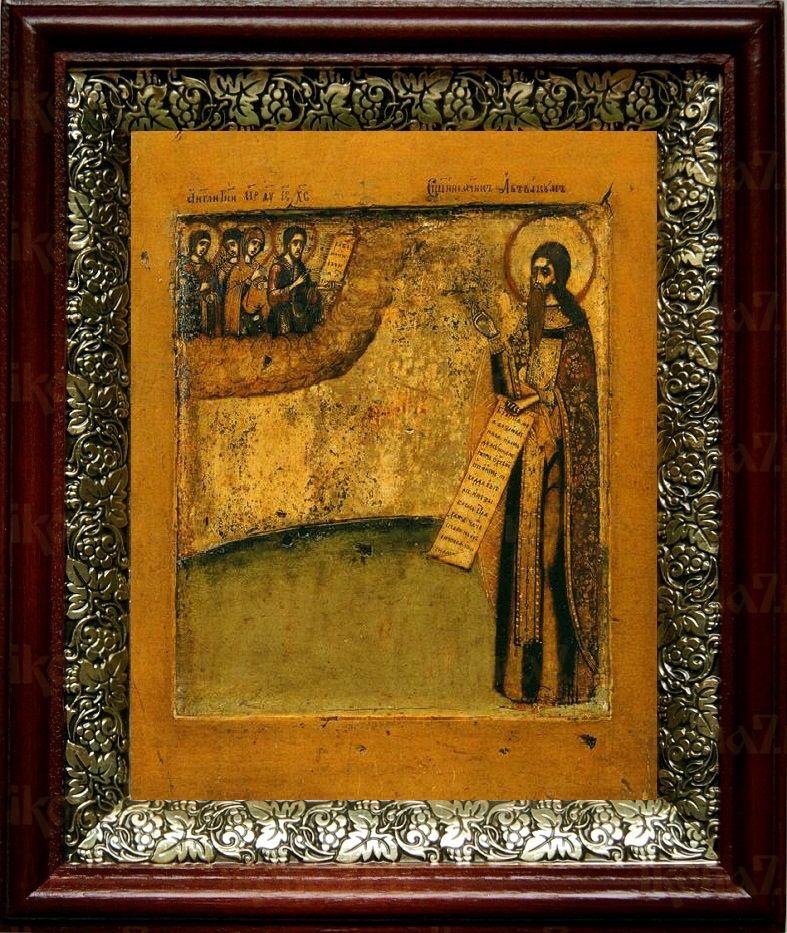 Аввакум протопоп (19х22), темный киот