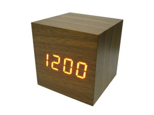Часы эл. VST869-1 + радио крас.цифры (ТЕМНО-коричневый)