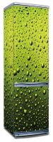 Виниловая наклейка на холодильник - Капли