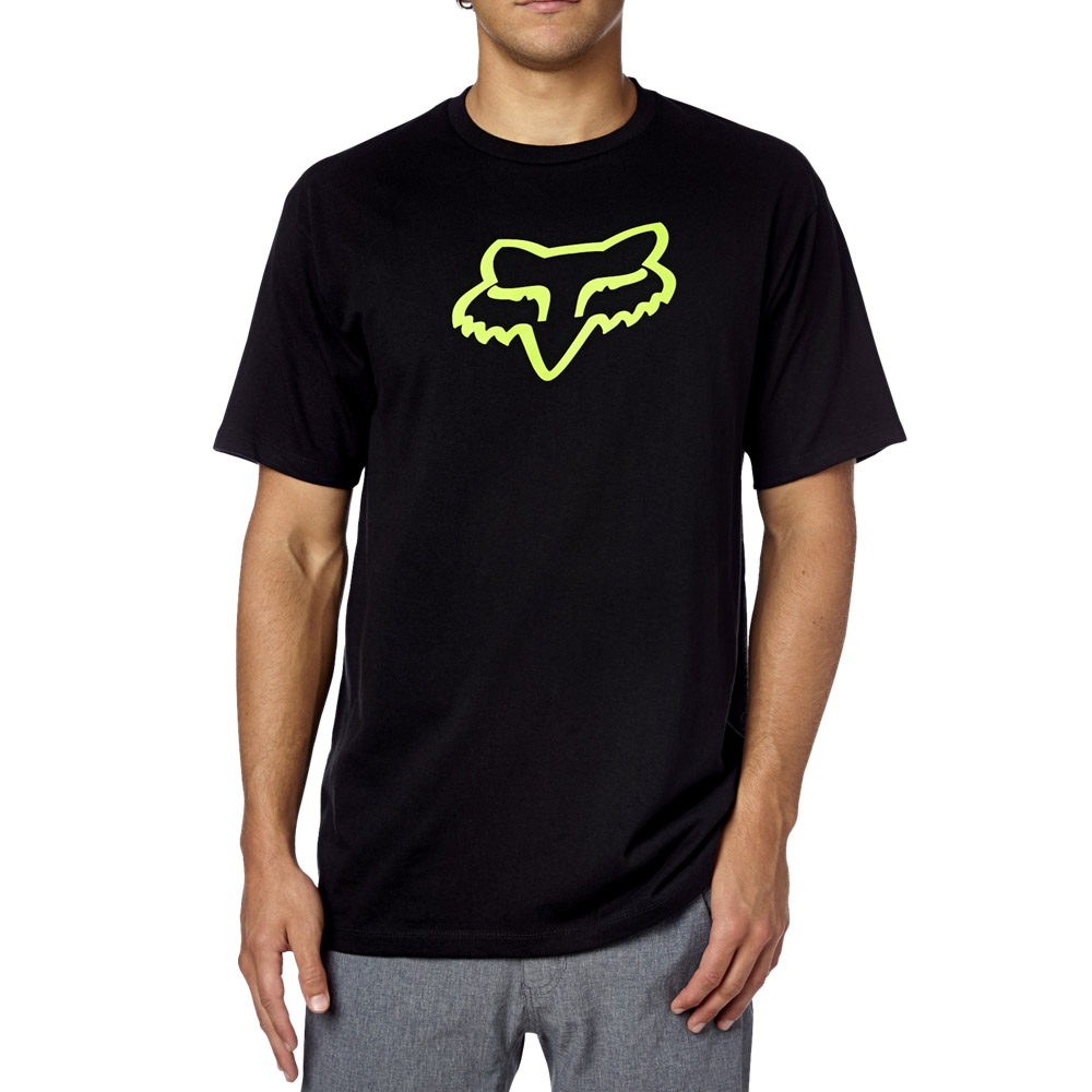 Fox - Legacy Foxhead SS Tee футболка, черно-зеленая