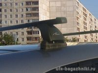 Багажник на крышу Mazda CX-9, Lux, стальные прямоугольные дуги