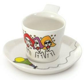 """Набор чашек для кофе с блюдцами Berghoff """"Eclipse"""" (2 пр.) 3705006 (0,180 л.)"""