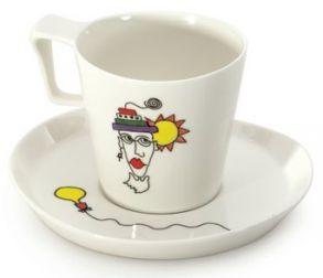 """Набор чашек для завтрака с блюдцами Berghoff """"Eclipse"""" (2 пр.) 3705008 (0,40 л.)"""