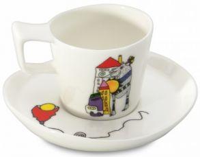 """Набор чашек для эспрессо с блюдцами Berghoff """"Eclipse"""" (2 пр.) 3705022 (0,08 л.)"""