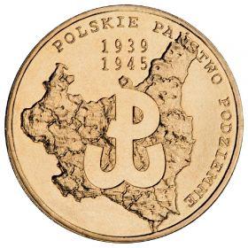 70 лет польскому подполью Монета 2 злотых 2009