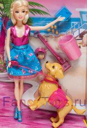 Игровой набор Кукла Барби и ее собака Тэфи»