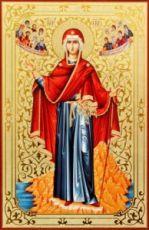 Афонская икона Божией Матери (рукописная)