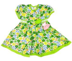 Изумительное хлопковое платье зеленого цвета
