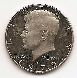 Джон Кеннеди 1/2 доллара США 1979 S
