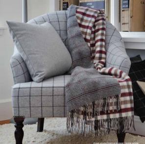 плед шотландский двусторонний, 100 % стопроцентная шотландская овечья шерсть, расцветка Тэй Tay, плотность 10