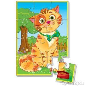 Мягкие пазлы «Котик» А5