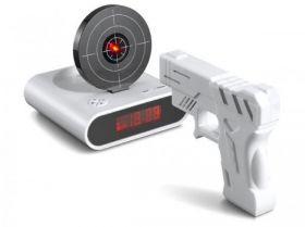 """Часы-будильник """"Пистолет с мишенью"""""""