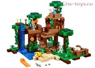 Конструктор Lari Мой Мир Домик на дереве в джунглях 10471 21125) 718 дет