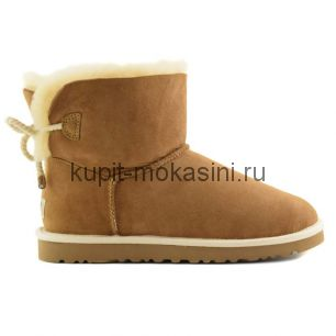 Mini Bailey Bow Selene Chestnut - Угги мини с бантиком Selene Ореховые