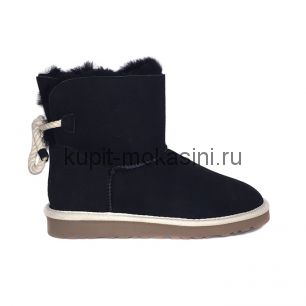 Mini Bailey Bow Selene Black - Угги мини с бантиком Selene Черные