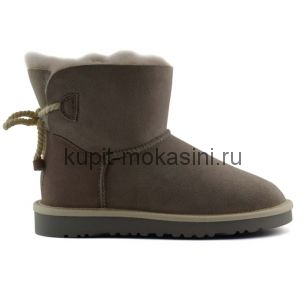 Mini Bailey Bow Selene Light Grey - Угги мини с бантиком Selene Светло-серые