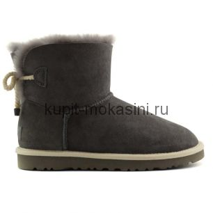 Mini Bailey Bow Selene Grey - Угги мини с бантиком Selene Серые