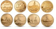 Польша 2 злотых 2012-2013 Корабли набор 8 монет Ni