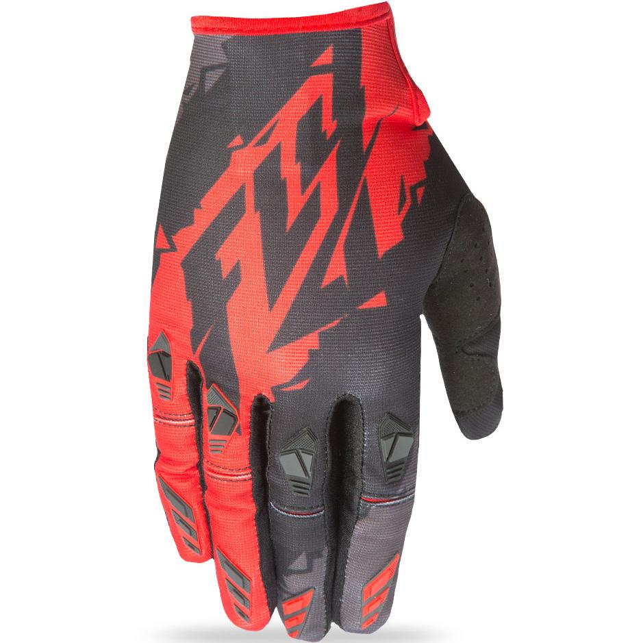 FLY - 2017 Kinetic перчатки, черно-красные