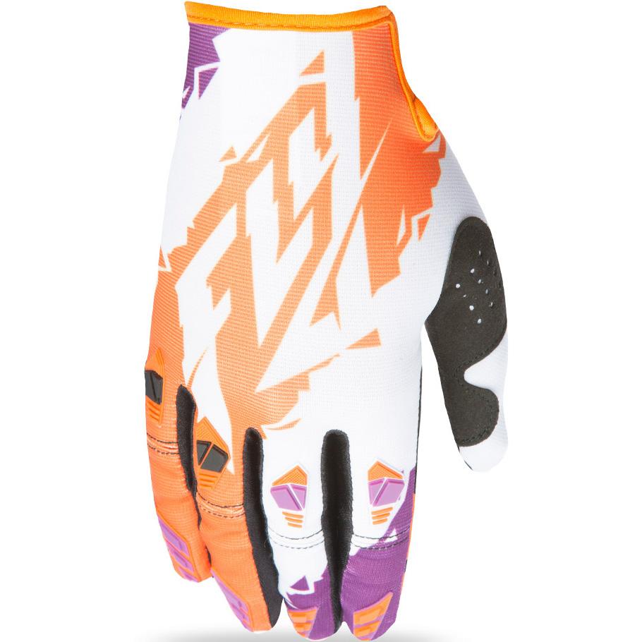 FLY - 2017 Kinetic перчатки подростковые, оранжево-белые