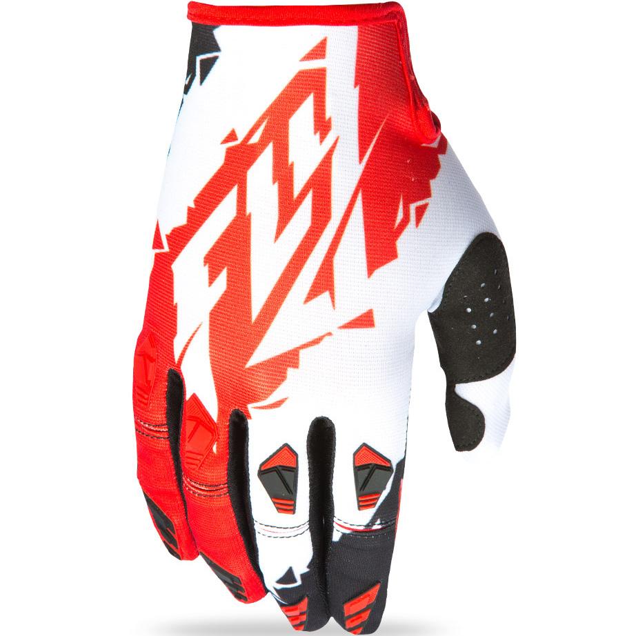 FLY - 2017 Kinetic перчатки, красно-белые