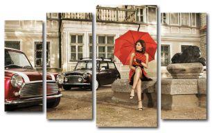 Девушка с зонтом (размер L)
