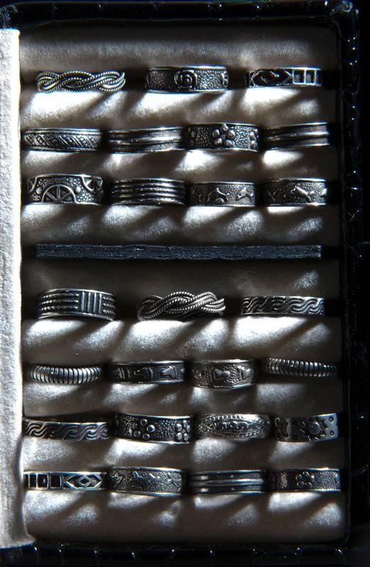 Серебряные кольца на фаланги пальцев (Москва)