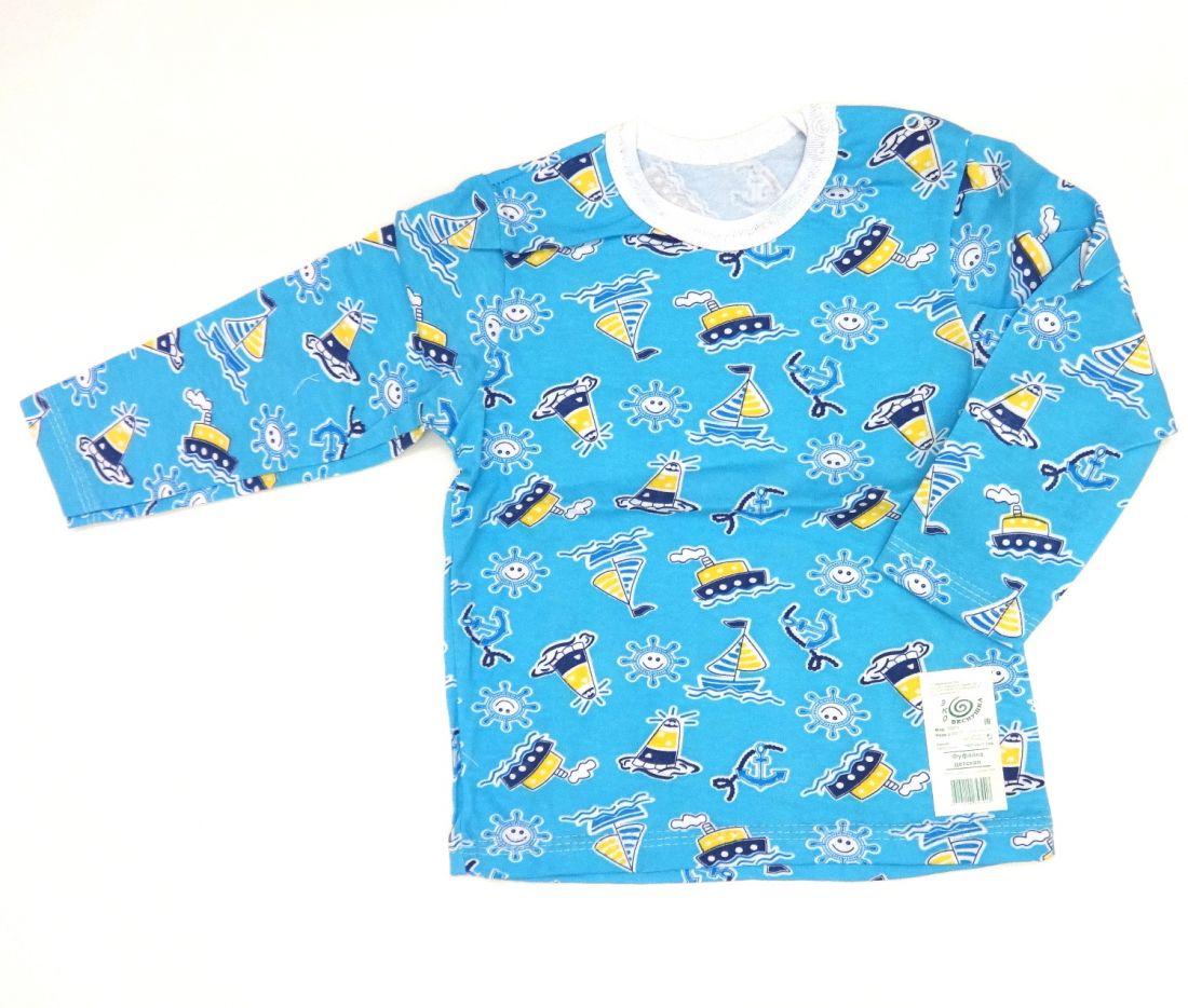 Голубая кофточка для мальчика
