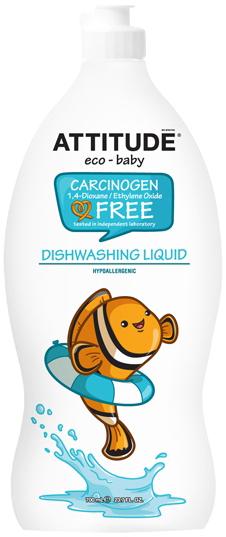Attitude Средство для мытья посуды без запаха Eco-Baby 700 мл