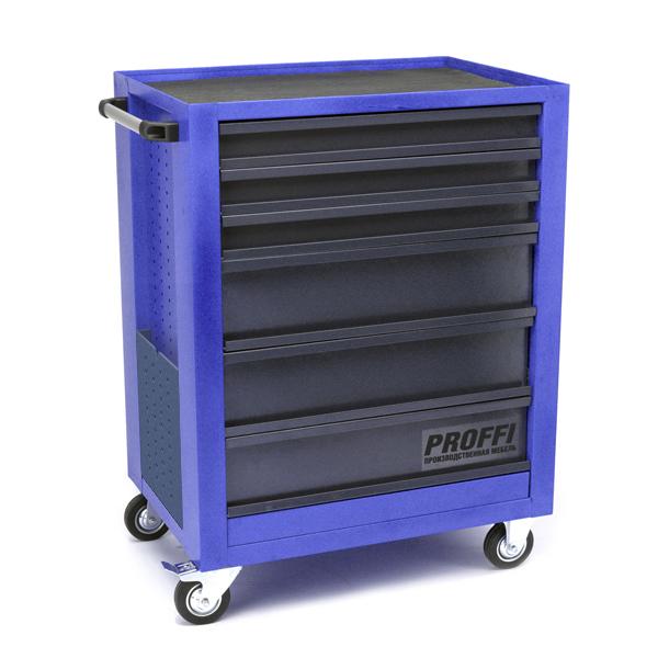Тележка Верстакофф PROFFI 950.6  Размеры (ШхВхГ)  700 х 940 х 490 мм  6 выдвижных ящиков: Средний ящик  – 3 шт. Малый ящик  – 3 шт.