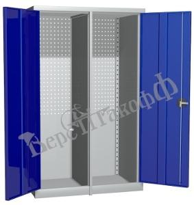 Металлический инструментальный шкаф PROFFI с перегородкой